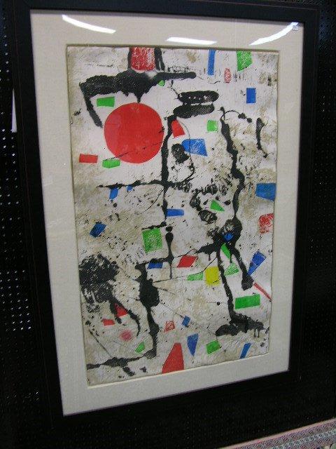 2879: JOAN MIRO (SPANISH 1893-1983).ORIGINAL COLOR ETCH