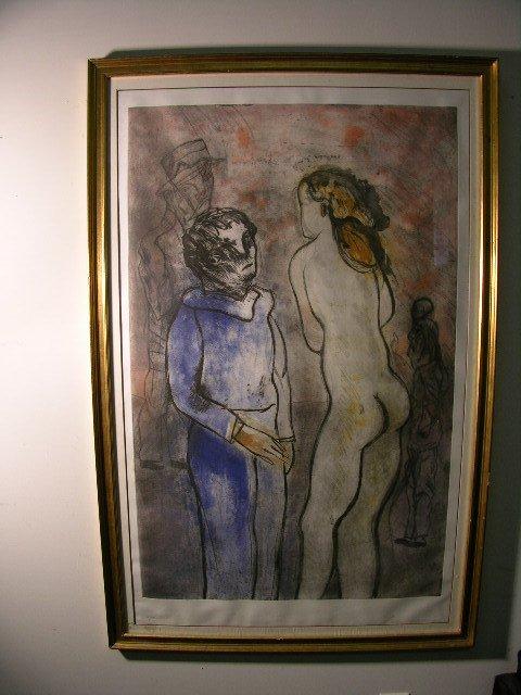 2880: JOSE LUIS CUEVAS  (MEXICAN. BORN 1934)A ABSTRACT/
