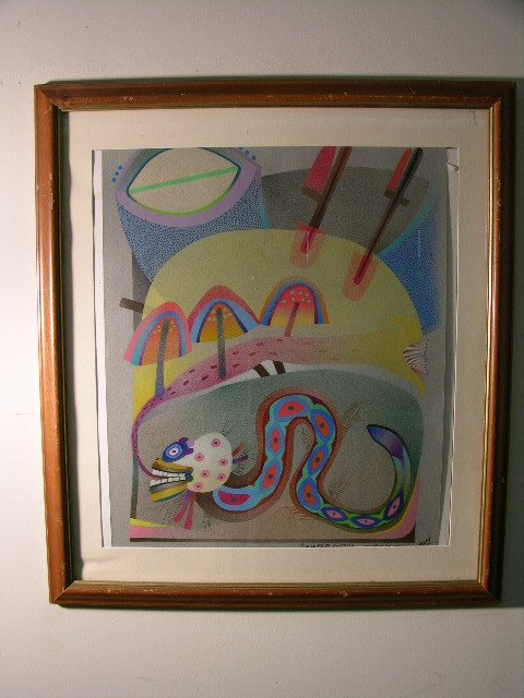 2887: PANDOLFI ARTIST.EXPRESSIONIST/SURREALIST ORIGINAL