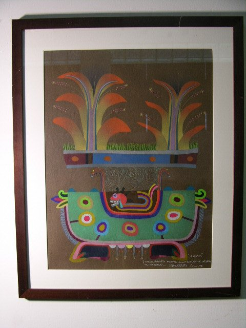 2888: PANOLFI ARTIST.EXPRESSIONIST/SURREALIST ORIGINAL