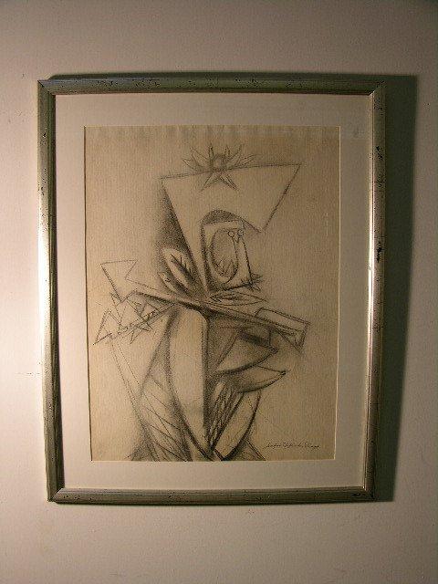 2889: JUAN ROBERTO DIAGO (CUBA. 1920-1957)EXPRESSIONIST