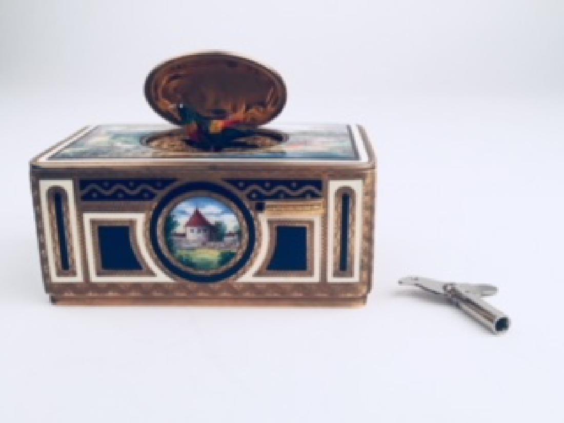 Mechanical singing bird automaton, German, mechanism