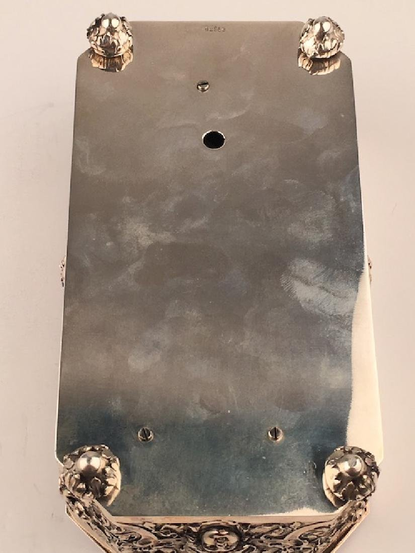 925 Silver mechanical double singing bird box when the - 7