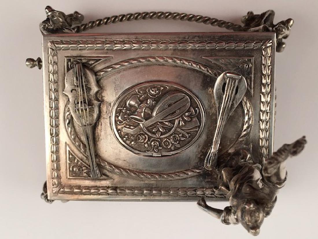 925 silver bird box with a lady holding a wreath. - 5