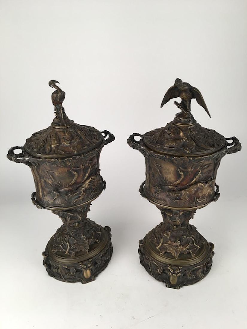 Pierre-Jules Mene (French:1810-1879) pair of bronze