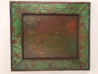 Tiffany Studios large photo frame in Pine needle with