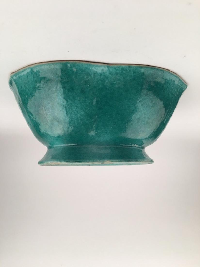 Antique Japanese three lobed bowl. Signed on the bottom