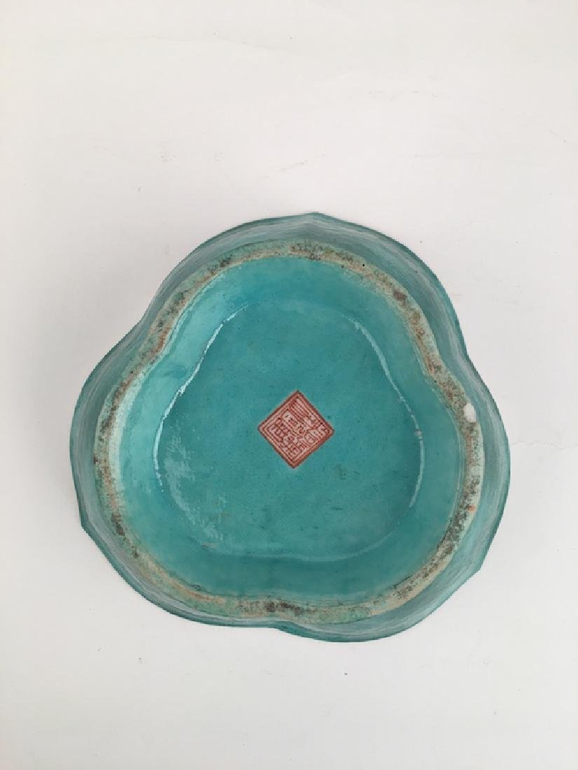 Antique Japanese three lobed bowl. Signed on the bottom - 3