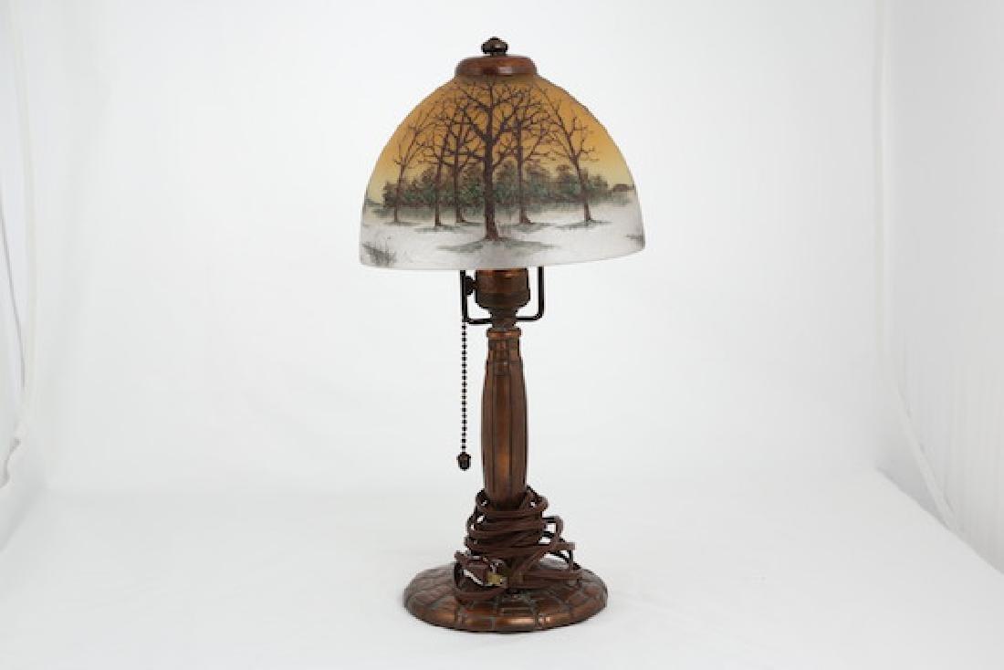 First quarter 20 th Century Handel boudoir table lamp.