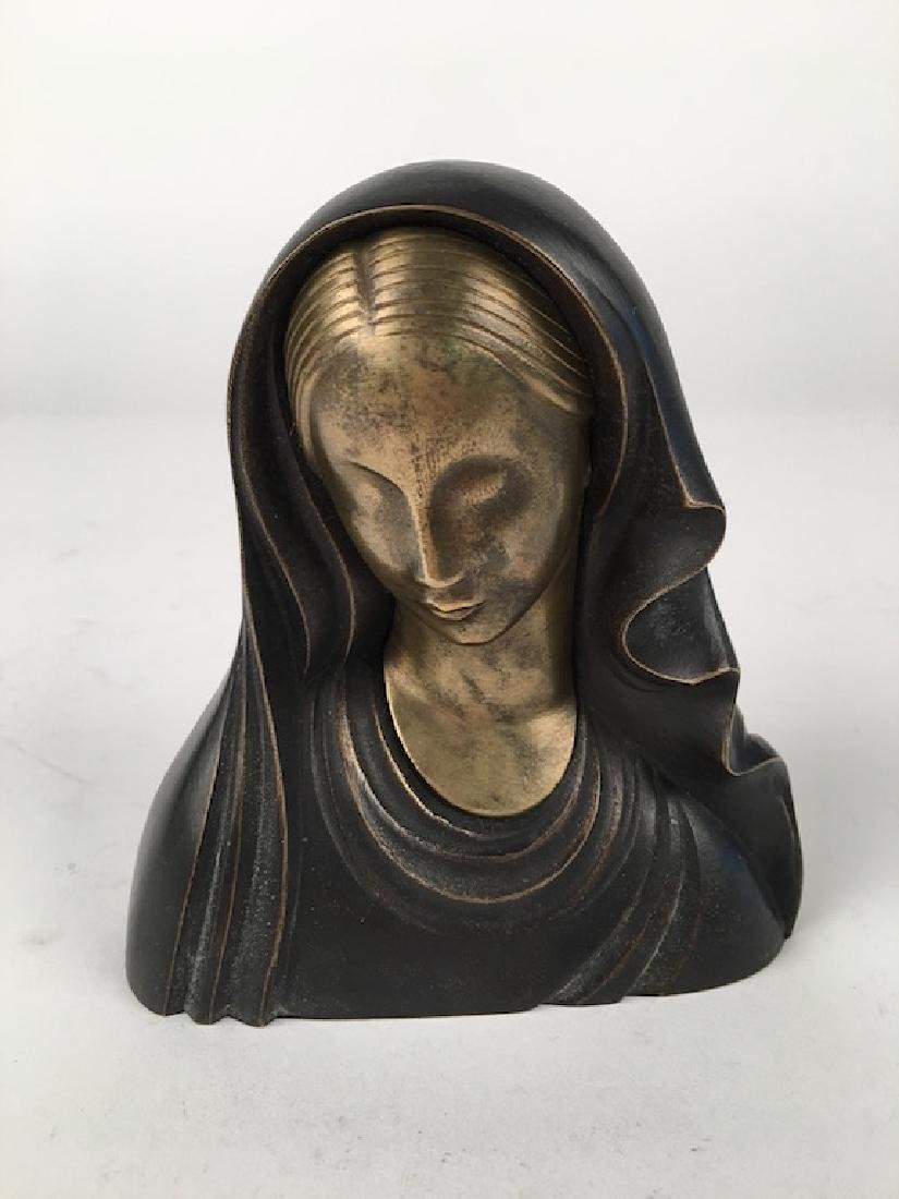Hagenhauer bronze figure of Madonna.