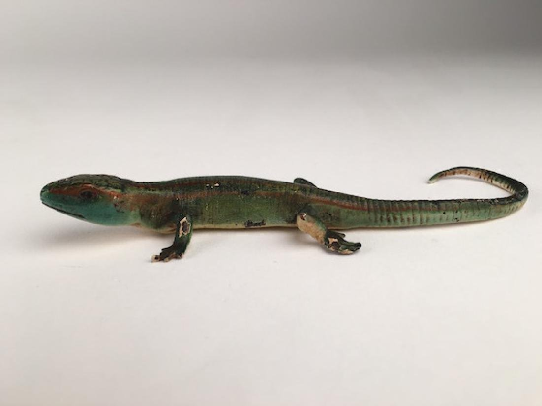 Cold painted Vienna bronze of a Lizzad.