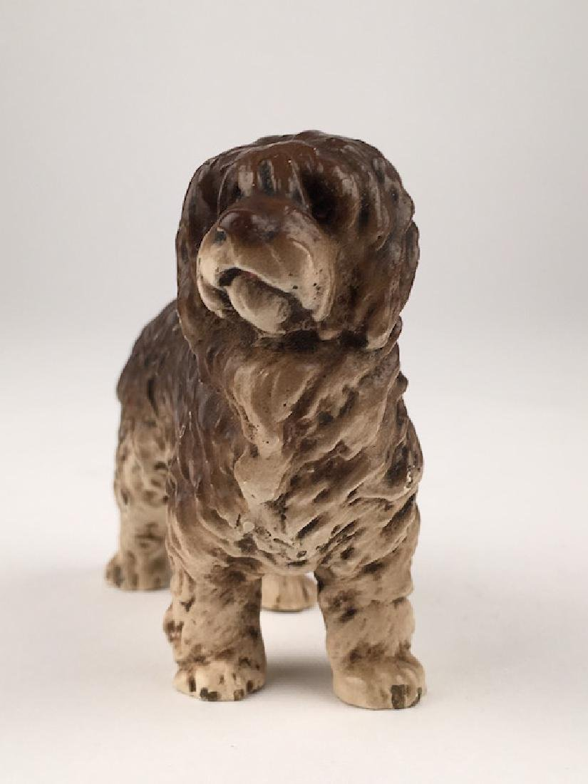 Antique Vienna cold painted bronze figure of a dog. - 2