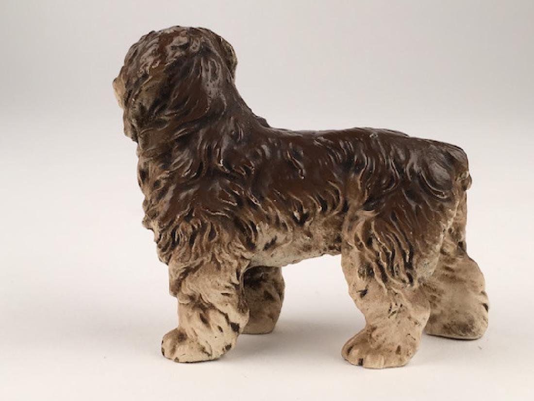 Antique Vienna cold painted bronze figure of a dog. - 3