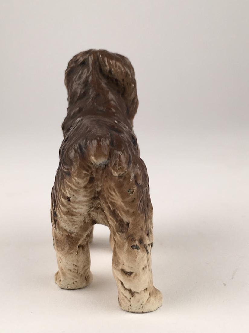 Antique Vienna cold painted bronze figure of a dog. - 4