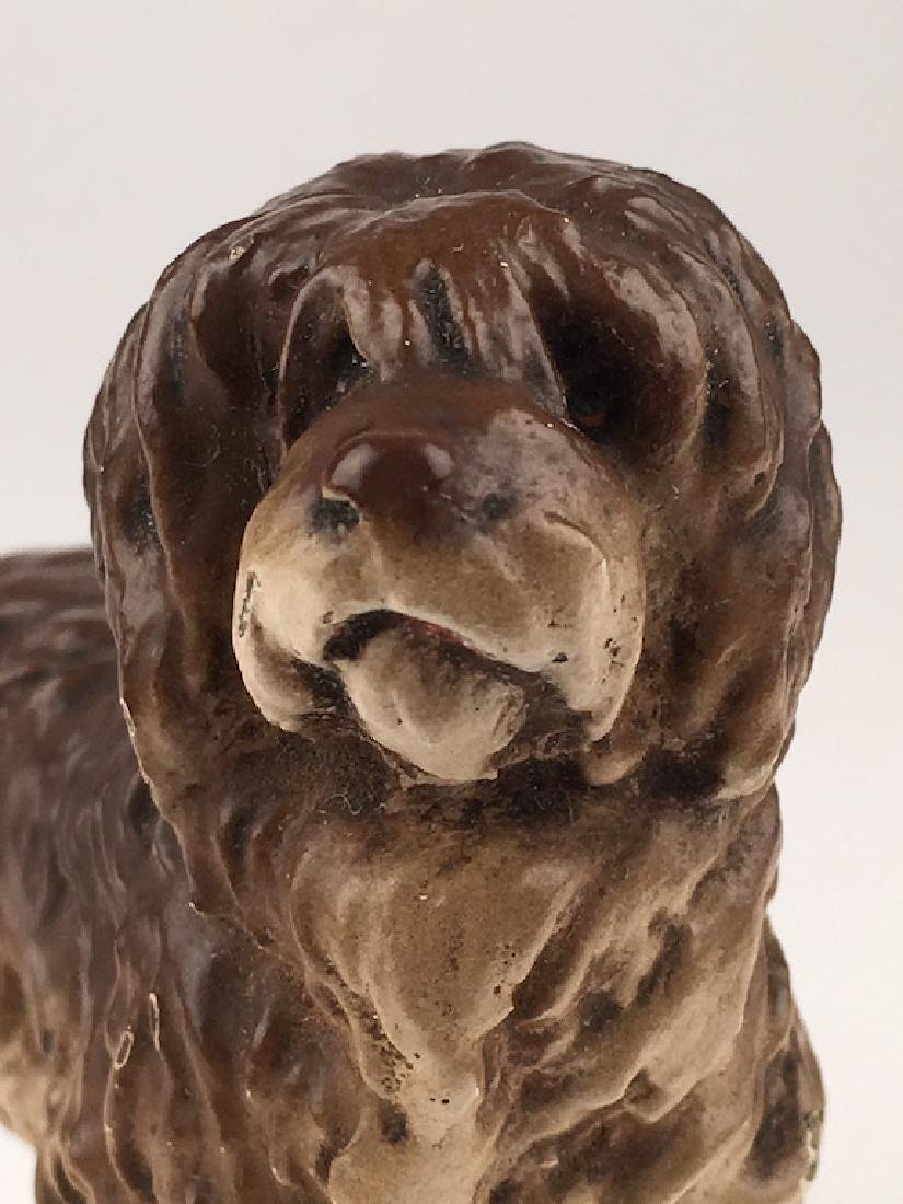 Antique Vienna cold painted bronze figure of a dog. - 5