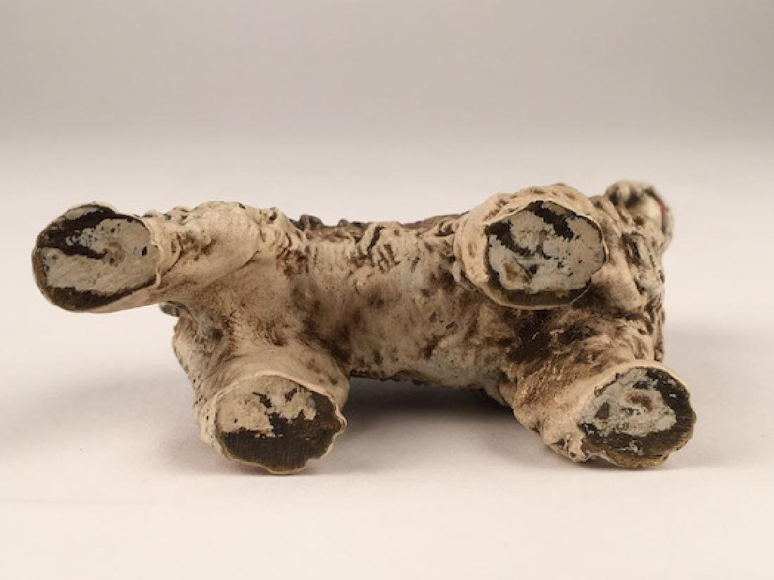 Antique Vienna cold painted bronze figure of a dog. - 6