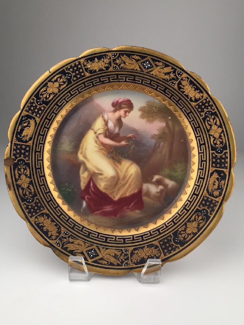 Royal Vienna painted porcelain dish.