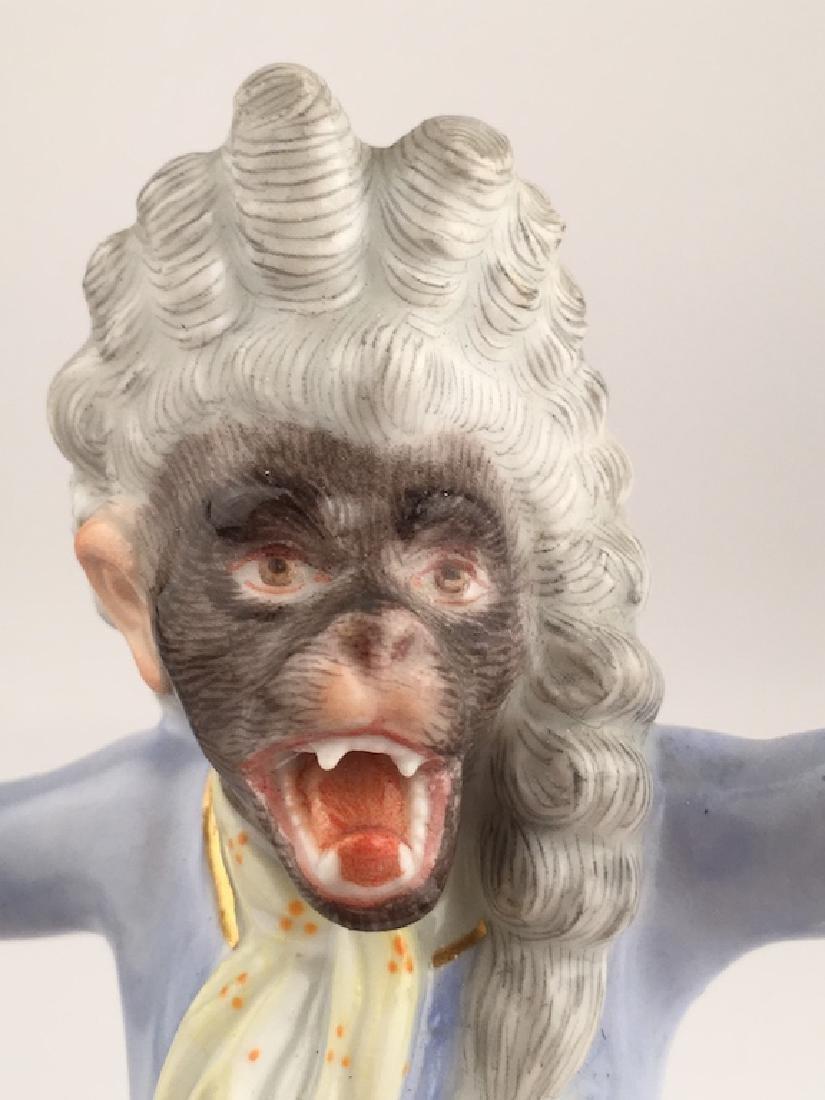 Meissen monkey conductor. - 2