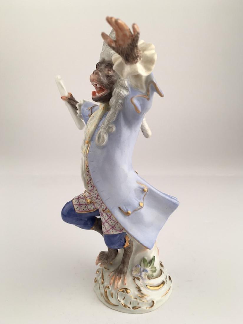 Meissen monkey conductor. - 3