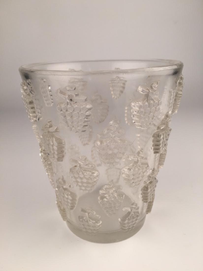 "R. Lalique ""Melege"" vase."