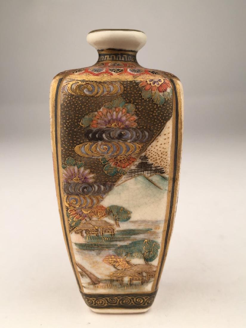 19 th Century Japanese porcelain Satsuma miniature - 2