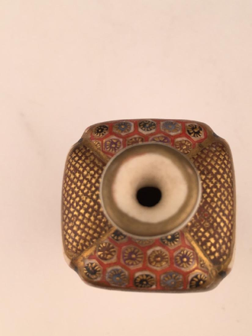 19 th Century Japanese porcelain Satsuma miniature - 5