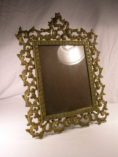 """3135: ANTIQUE  VICTORIAN PICTURE FRAME. 13"""" X 17""""."""