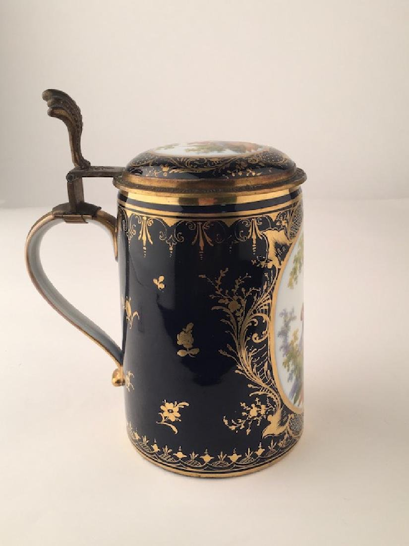 Royal Vienna Scenic Porcelain Stein Tankard Porzellan - 2