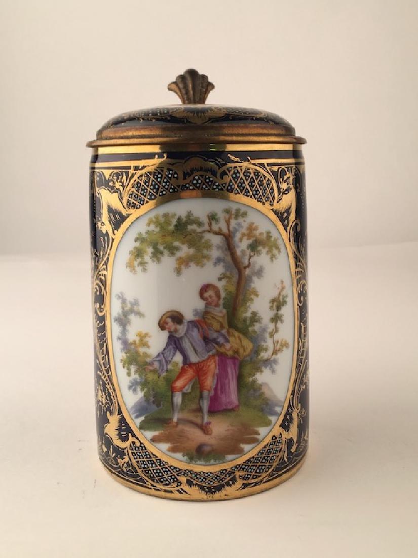 Royal Vienna Scenic Porcelain Stein Tankard Porzellan - 4