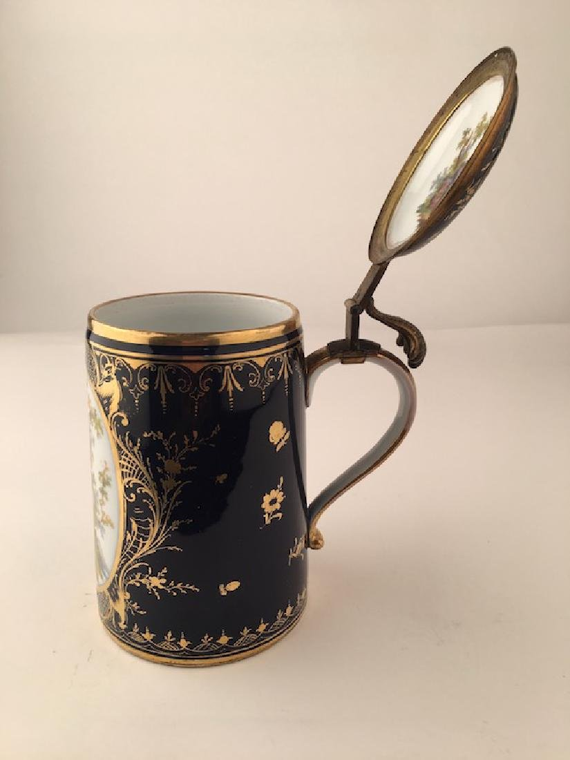 Royal Vienna Scenic Porcelain Stein Tankard Porzellan - 7