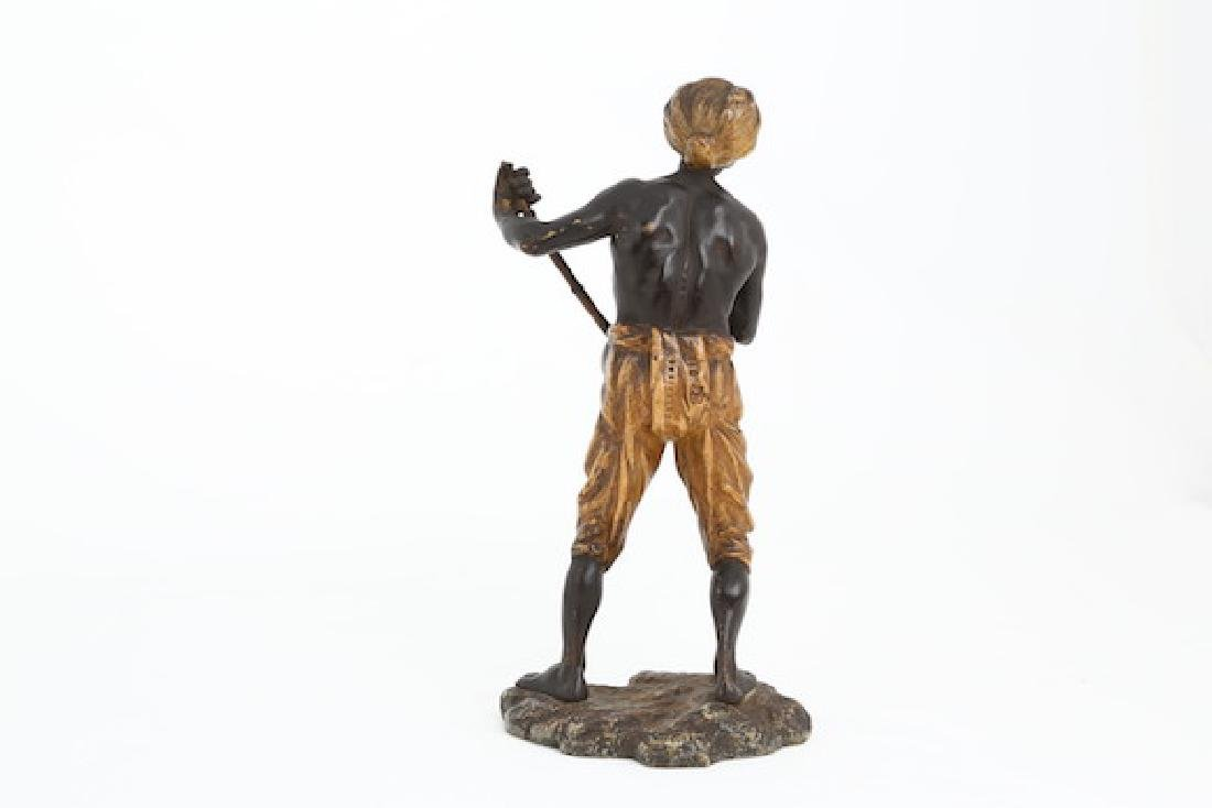 Bergman Vienna bronze figure of a man with mandolin. - 2