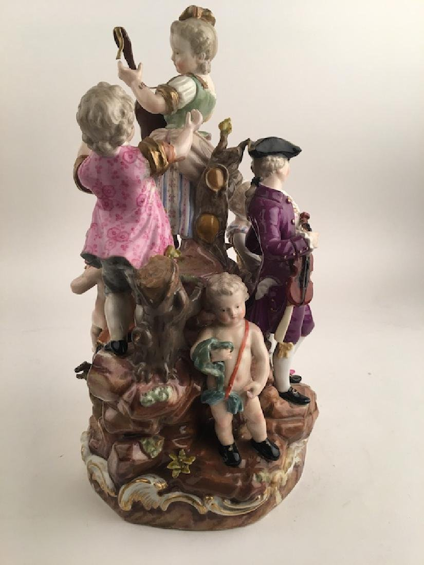 Meissen figural group of seven different people playing - 8