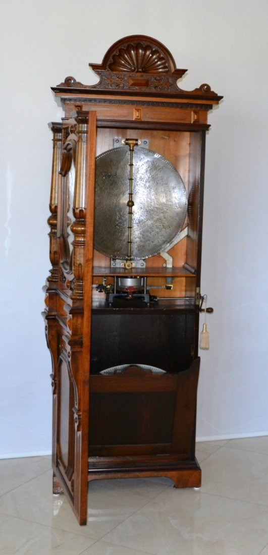 """IMPERATOR UPRIGHT MUSIC BOX PLAYS 21\"""" DISKS - 4"""