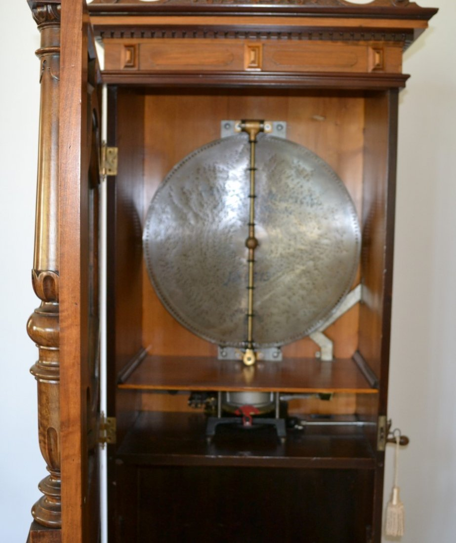 """IMPERATOR UPRIGHT MUSIC BOX PLAYS 21\"""" DISKS - 5"""