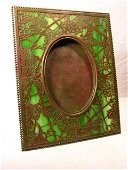 """3721: TIFFANY STUDIOS PICTURE FRAME IN THE """"GRAPEVINE"""""""