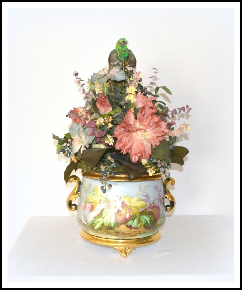 Antique French Singing Bird Jardiniere