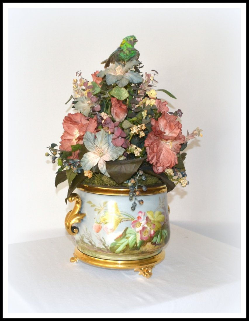 Antique French Singing Bird Jardiniere - 2