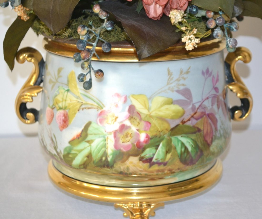 Antique French Singing Bird Jardiniere - 5