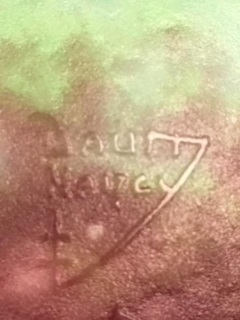 """Daum Nancy cameo vase on a green ground. Signed """"Daum - 7"""