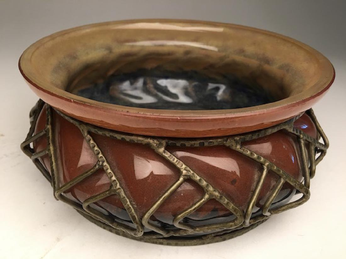 Daum and Majorelle Art Nouveau blown glass bowl