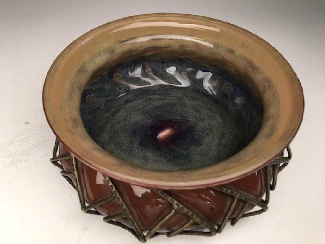 Daum and Majorelle Art Nouveau blown glass bowl - 2