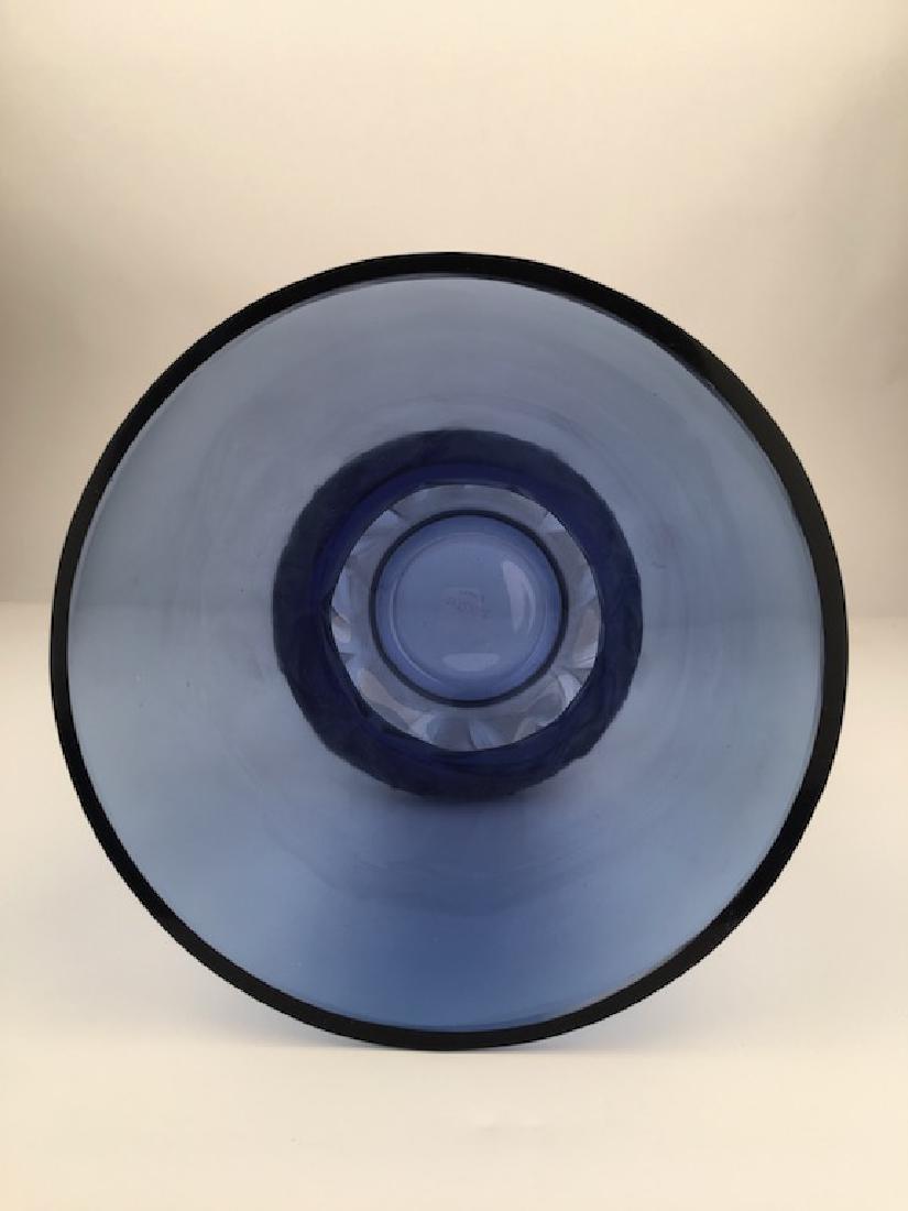 "R. Lalique ""Lierrre"" vase in a dark blue glass. - 3"