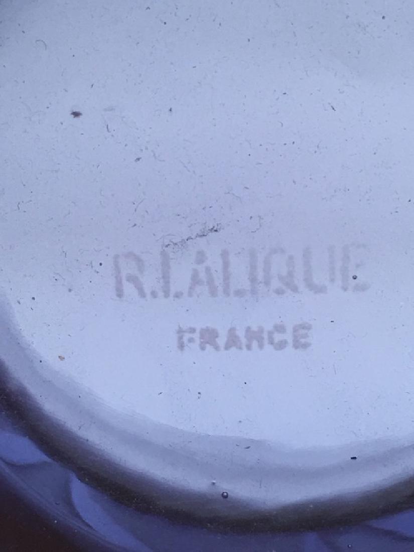 "R. Lalique ""Lierrre"" vase in a dark blue glass. - 4"