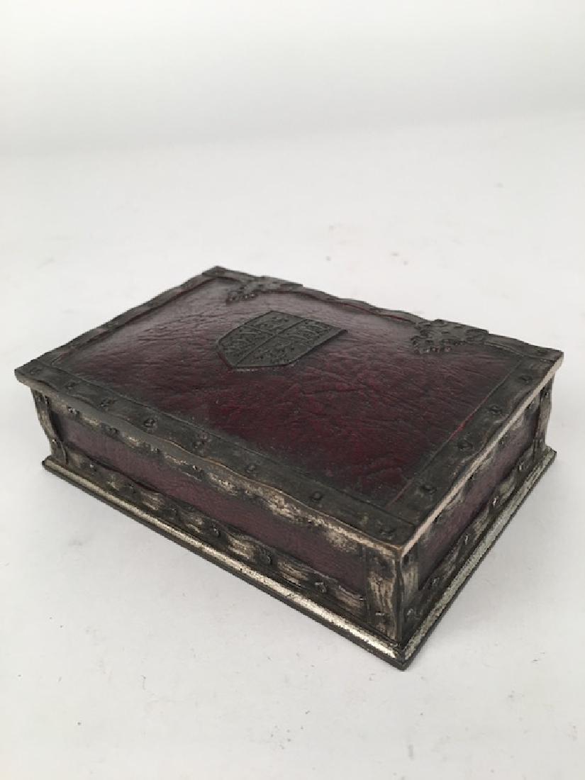 "Tiffany Studios utility box  in the ""Heraldic"" pattern - 3"