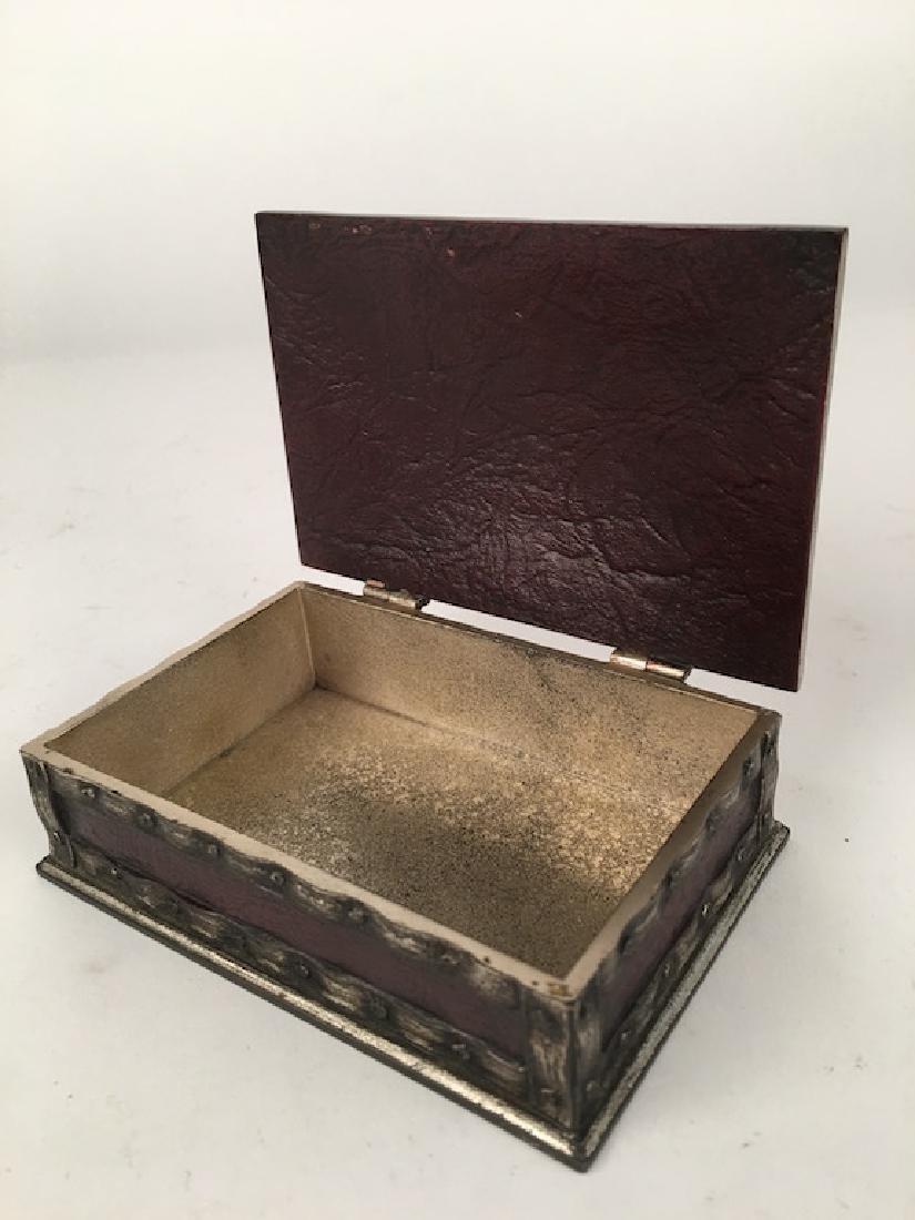 "Tiffany Studios utility box  in the ""Heraldic"" pattern - 4"