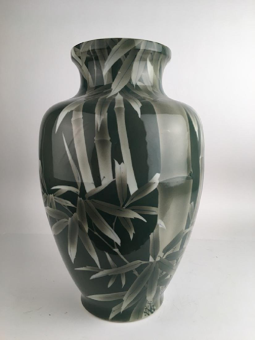 Circa 1900 Japanese Studio large porcelain vase