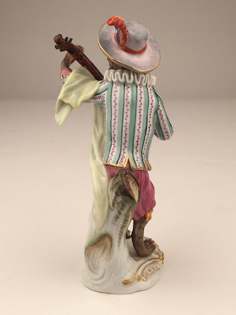 Meissen porcelain monkey  band member playing a guitar. - 5