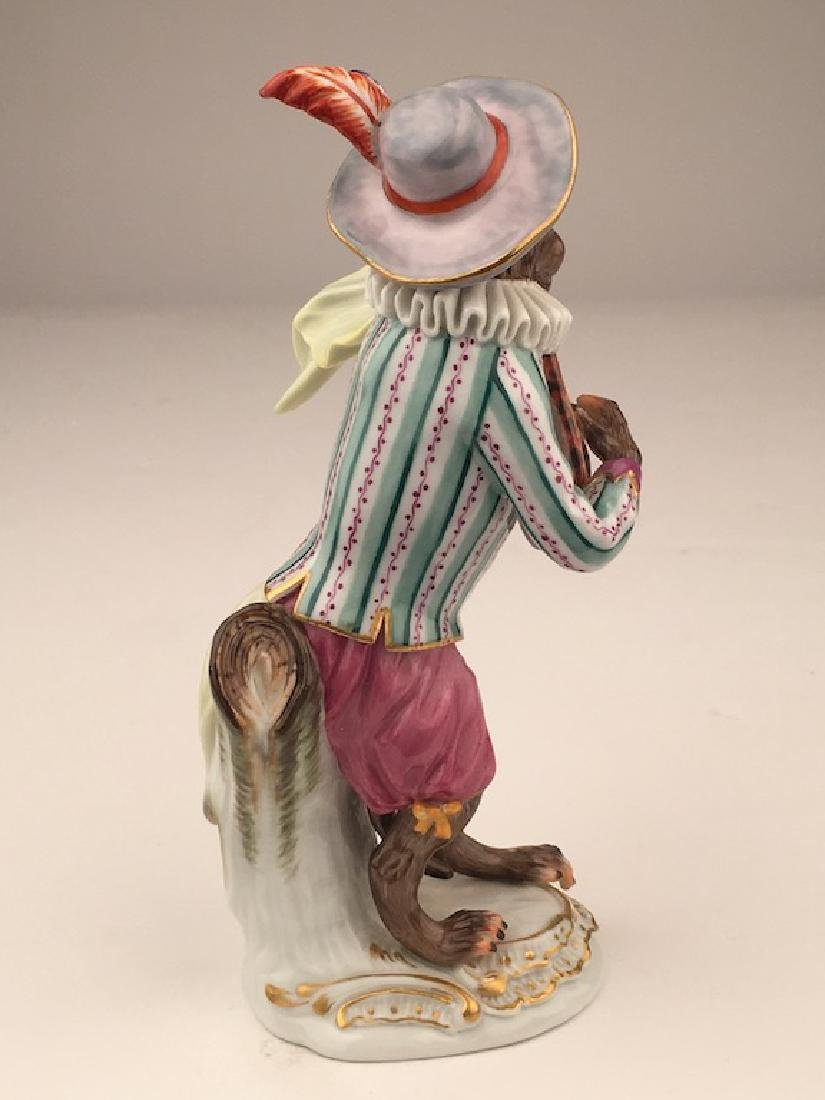 Meissen porcelain monkey  band member playing a guitar. - 6