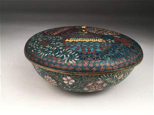 Late 19 early 20 th century Japanese cloisonne covered