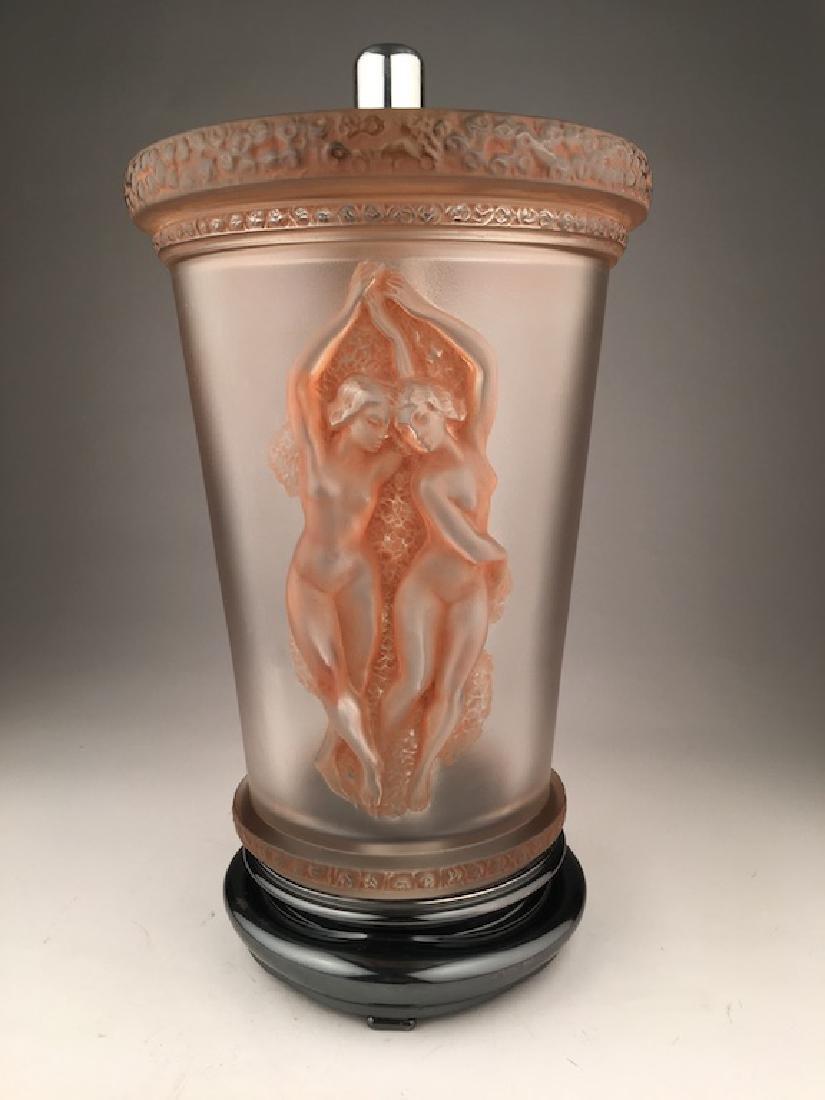 """Marc Lalique 1950 """"Two Danseuses"""" lamp with original - 6"""